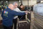 Julio zamora recorrió las nuevas instalaciones de la cooperativa Creando Conciencia