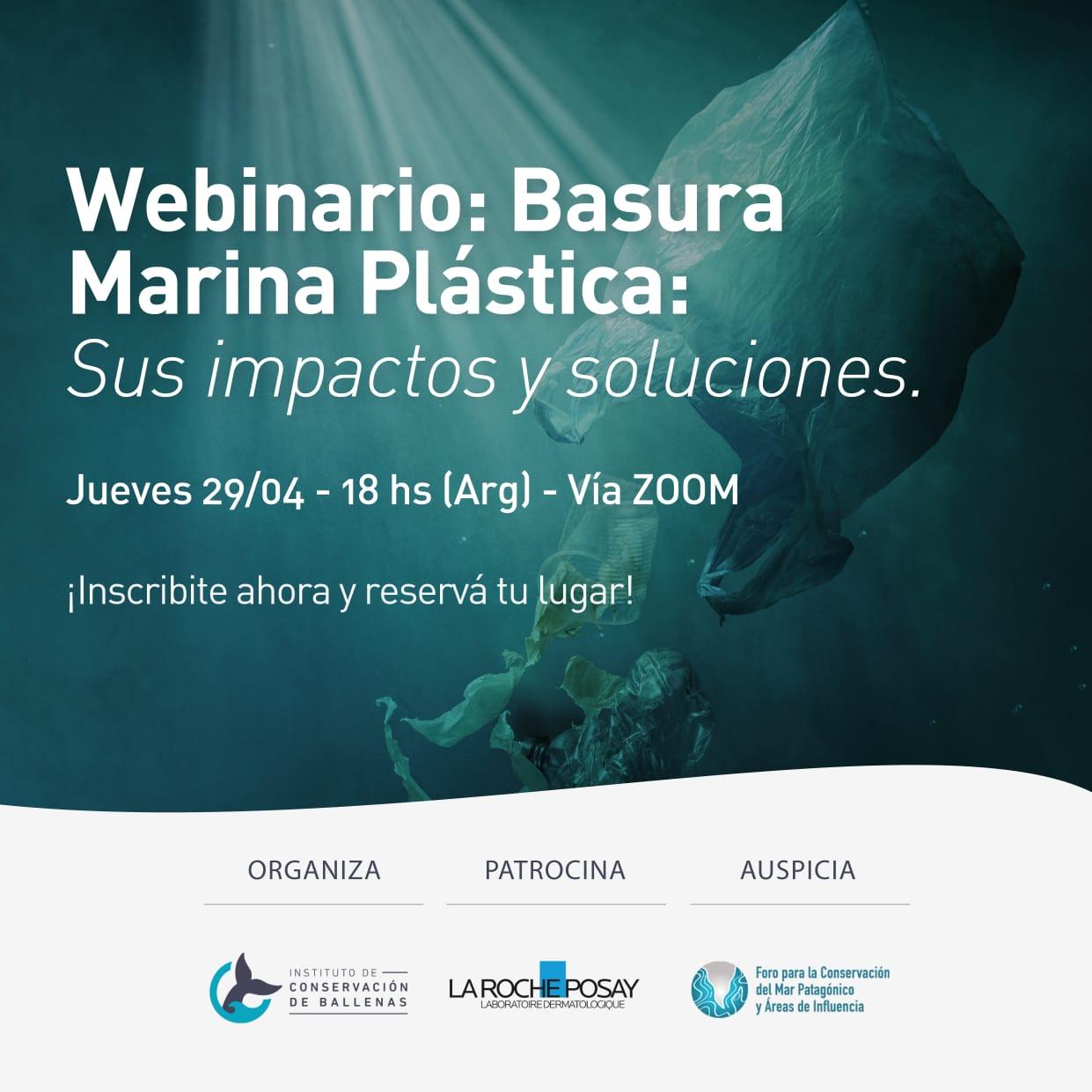Presentes en el webinario Basura Marina Plástica. Sus impactos y soluciones