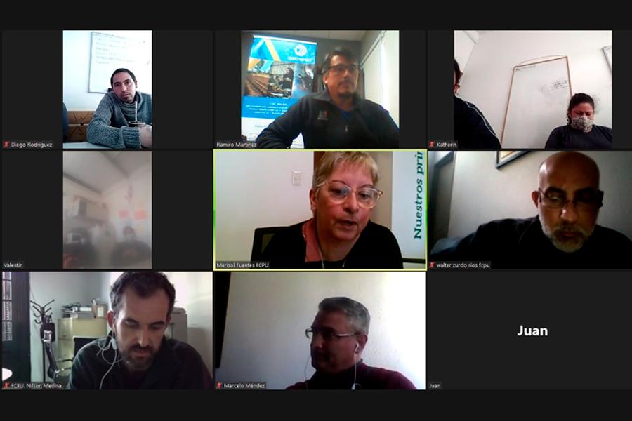 Nos reunimos con miembros de la Cooperativa La Paloma y de FCPU